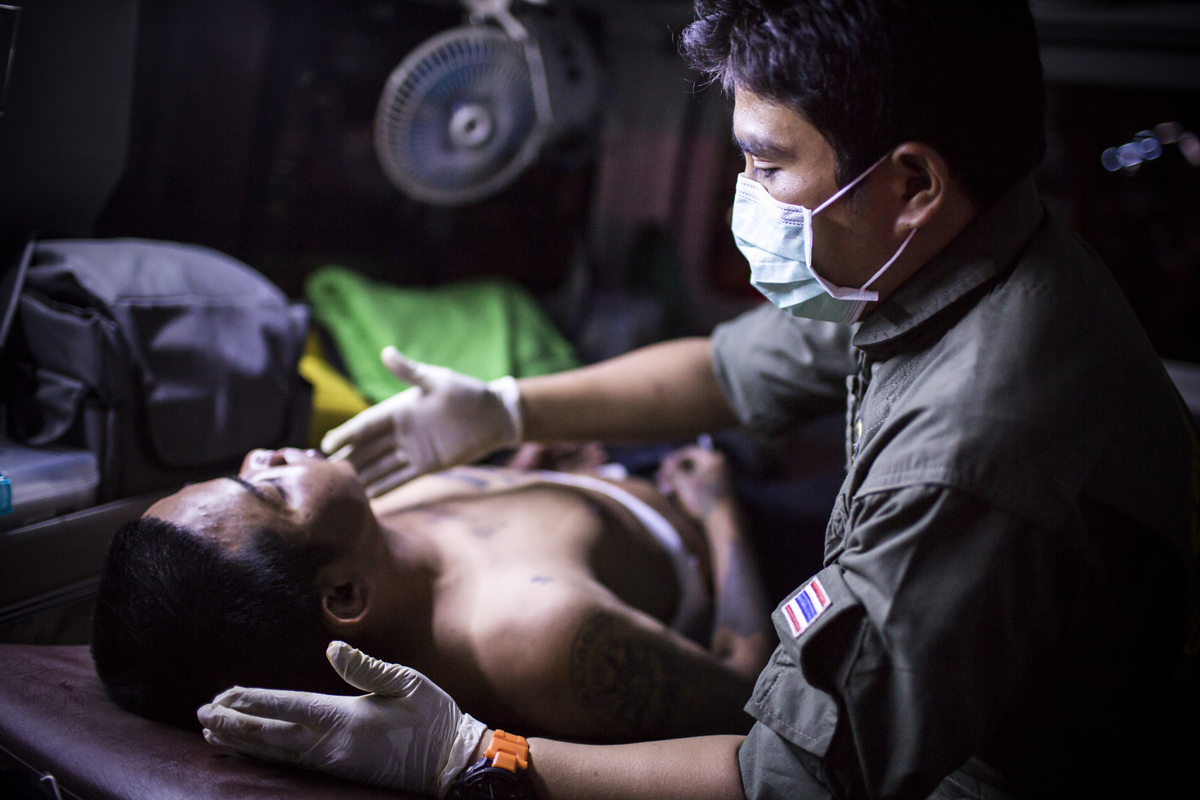 Bangkok's volunteer ambulance service